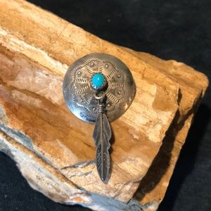Jewelry - Native American Sterling and Turquoise Pendant
